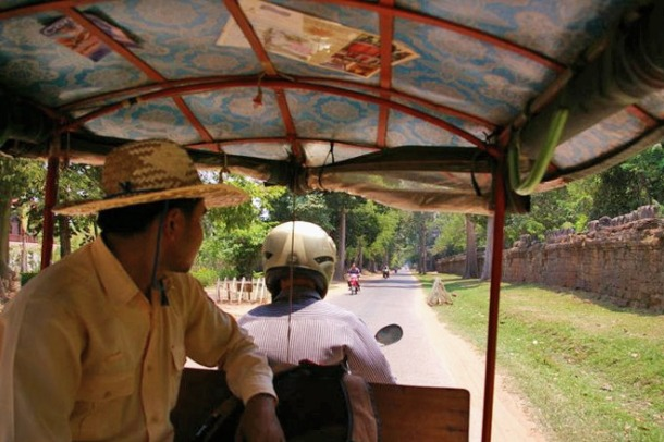 Hire a tuc tuc in Siem Reap and explore the sights of Angkor Wat