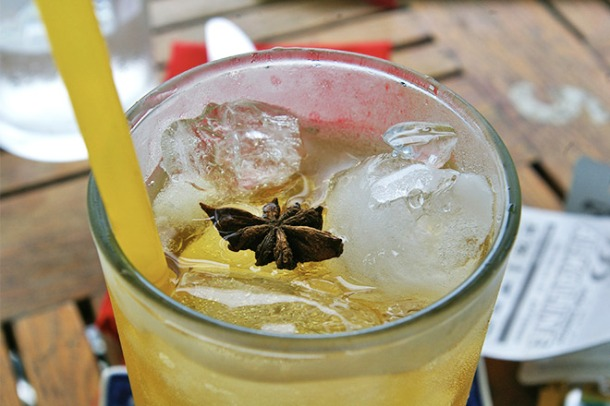 Refreshing lime and anise iced tea from Epic Arts Cafe in Kampot, Cambodia