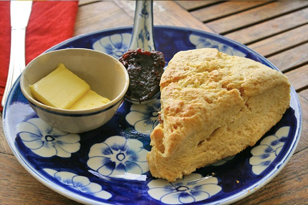 Homemade scones and jam from Epic Arts Cafe, Kampot, Cambodia