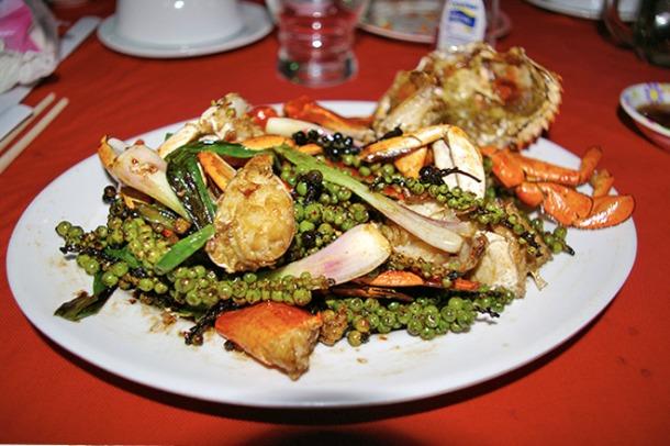 Pepper crab in Kampot, Cambodia