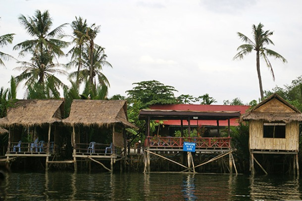 Riverside accommodation in Kampot, Cambodia