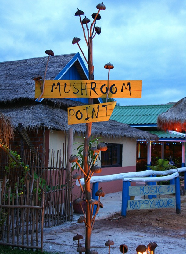 Mushroom Point at Ortres Beach is a fantastic, affordable place to stay near Sihanoukville with incredible food