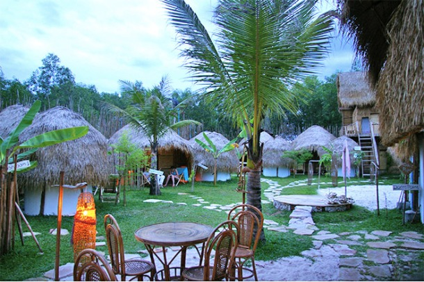 Private rooms at Mushroom Point, Otres Beach, Cambodia